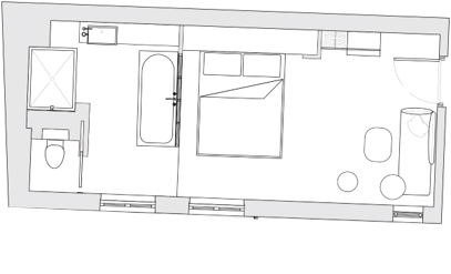 Premium room plan hotel paris centre